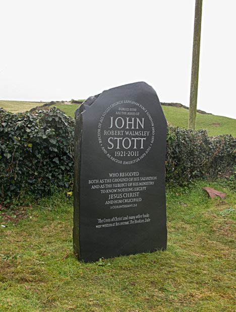 Headstone in Natural Slate