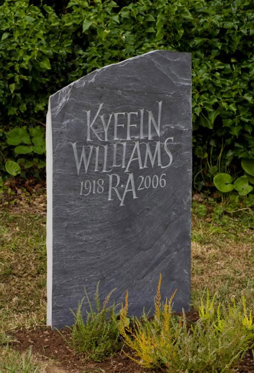 Headstone example, using the natural shape of the stone.